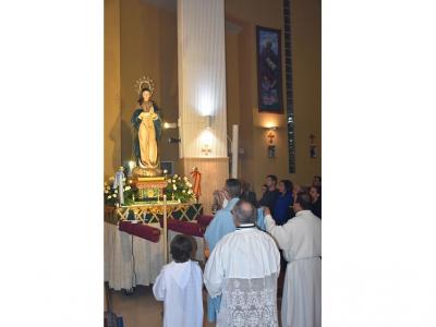Terminan los actos del triduo programados para la festividad de la titular de la Parroquia del Corpus-Christi y la Purísima deArchena