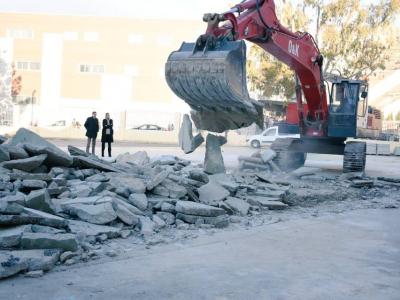 Iniciadas las obras en el entorno del antiguo Colegio Miguel Medina
