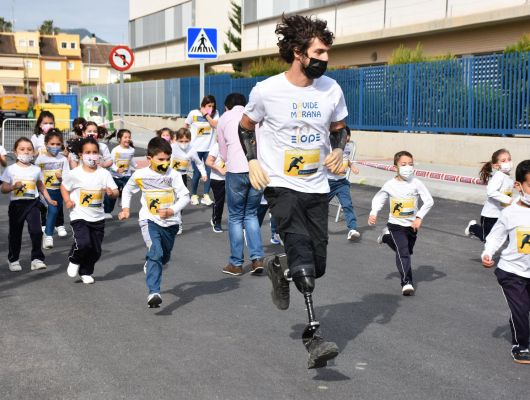 Davide Morana, deportista paralímpico, protagonista de la Jornada Cultural del Colegio El Ope de Archena