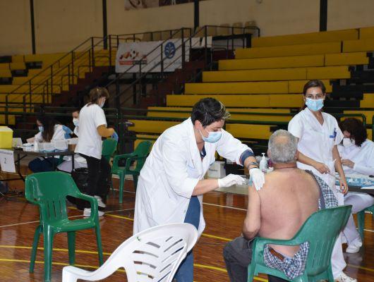 Comienza en Archena la vacunación masiva contra la Covid19, hoy en concreto los archeneros de 75 a 79 años