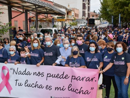Más de 500 personas en la XIV Marcha contra el Cáncer  que se celebró en Archena