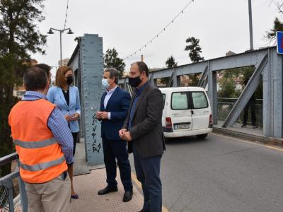 A partir del lunes, día 7, se cortan al tráfico los accesos por el Puente de Hierro debido a las obras de rehabilitación