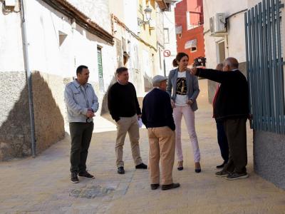 Visita de la Alcaldesa a las obras de las calles del Carmen y Olmo