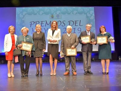II edición de los premios al Mayor de Archena 2019, celebrada en el Teatro Villa de Archena, ante un aforo completo
