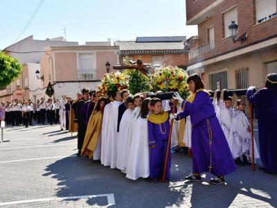 Centenares de niños participan en la procesión infantil de Archena