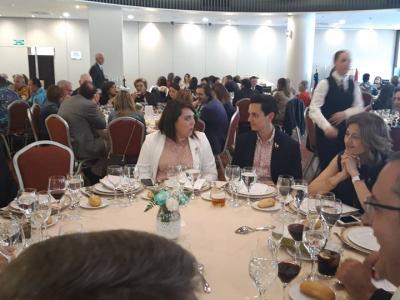 Comida de convivencia de los grupos sardineros, que ha contado con la asistencia de la Alcaldesa de Archena y varios concejales del equipo de Gobierno
