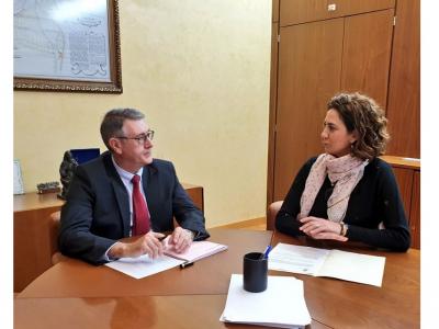 La Alcaldesa se reúne con Mario Urrea, presidente de la Confederación Hidrográfica del Segura