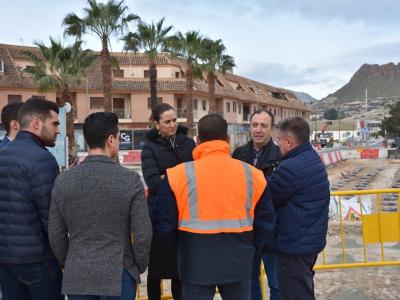 La Alcaldesa y Concejales del Equipo de Gobierno visitan las obras que se realizan en la carretera de Villanueva