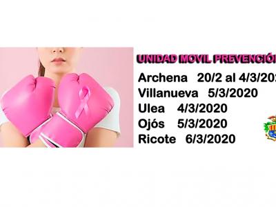 El Ayuntamiento de Archena colabora con el Programa de la Dirección General de Salud Pública y Adicciones para prevenir el cáncer de mama