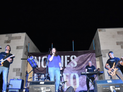 Espectacular concierto derockel ofrecido ayer noche por el grupo murciano 'Mississippi Band' en los jardines delMuseodeArchena
