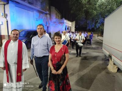 La tradicional procesión de la Virgen del Carmen y el Apóstol Santiago cierra el día grande de las Fiestas Patronales de El Hurtado