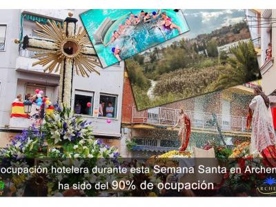 Archena registra, durante la Semana Santa, una tasa de ocupación hotelera del 90%, una de las más altas de la Región de Murcia