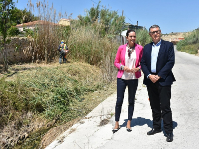 Reunión de la Alcaldesa y Mario Urrea, Presidente de la Confederación Hidrográfica del Segura (CHS)
