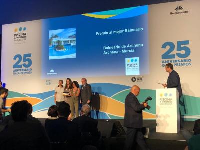 ElBalneario de Archenarecibe el 'Premio Wellness Experience 2019' en la categoría