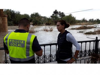 La autoridad municipal renueva los mensajes de precaución ante una nueva crecida del Río Segura a su paso por Archena