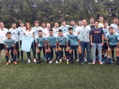 Primer partido de liga del 'Archena Sport' en el Campo Municipal, al que han asistido la Alcaldesa y otros miembros de la Corporación Municipal